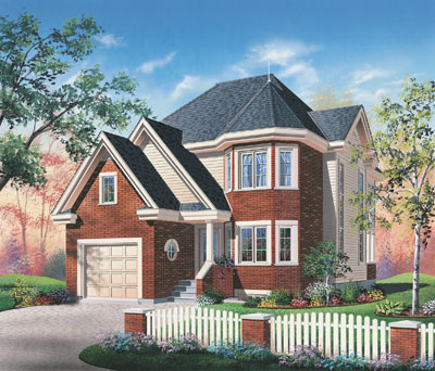 Traditional Style Home Design Plan: 5-440