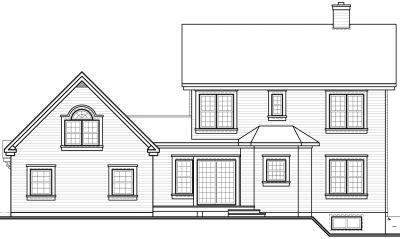 Rear Elevation Plan: 5-441