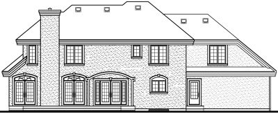 Rear Elevation Plan: 5-442
