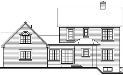 Rear Elevation Plan: 5-443