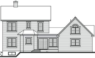 Rear Elevation Plan: 5-444