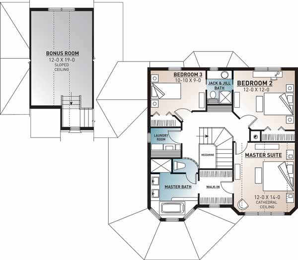 Upper/Second Floor Plan: 5-444