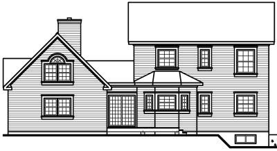 Rear Elevation Plan: 5-446