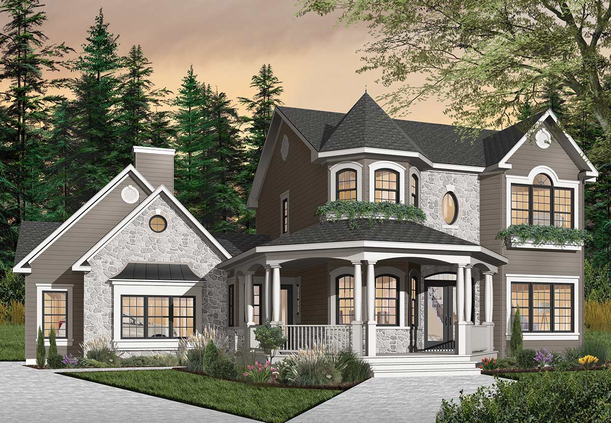 Country Style House Plans Plan: 5-447