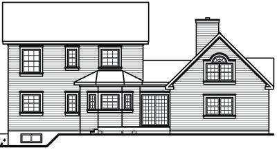 Rear Elevations Plan:5-447