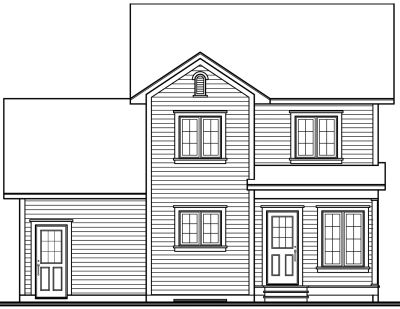 Rear Elevation Plan: 5-448