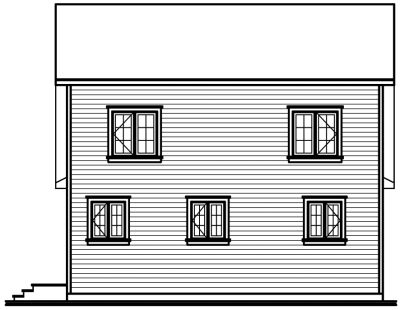 Rear Elevation Plan: 5-449