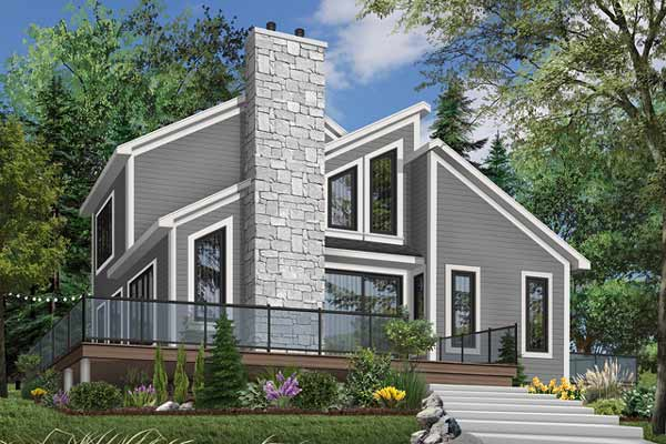 Contemporary Style House Plans Plan: 5-450