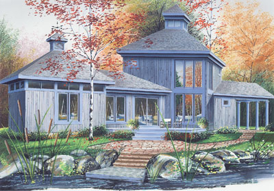 Contemporary Style House Plans Plan: 5-452