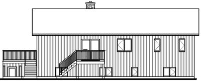 Rear Elevation Plan: 5-453