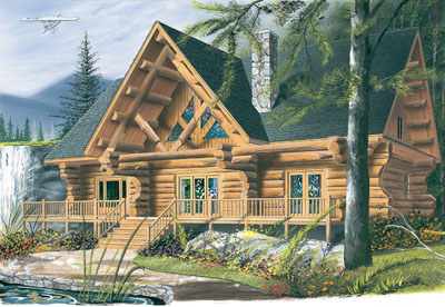 Country Style Floor Plans Plan: 5-454