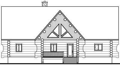 Rear Elevation Plan: 5-454