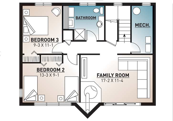 Lower Floor Plan: 5-456