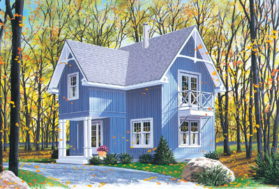Country Style Floor Plans 5-458