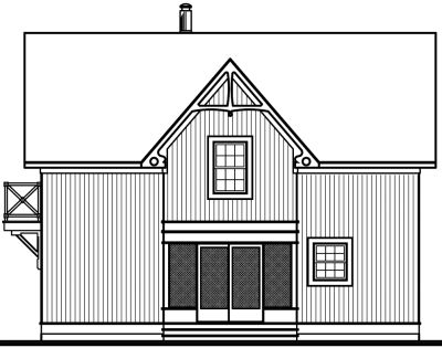 Rear Elevations Plan:5-458