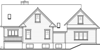 Rear Elevation Plan: 5-459