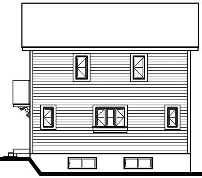 Rear Elevation Plan: 5-461