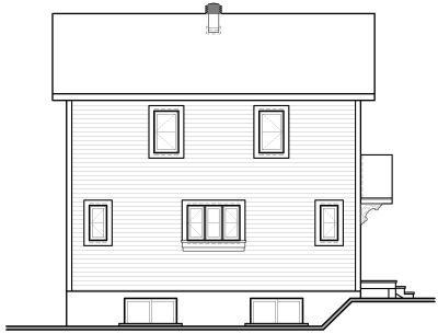 Rear Elevation Plan: 5-462