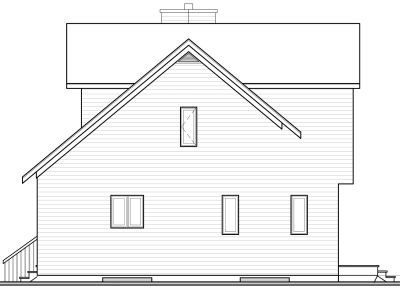 Rear Elevation Plan: 5-463