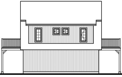 Rear Elevation Plan: 5-464