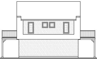 Rear Elevation Plan: 5-465