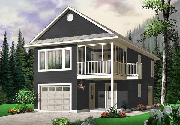 Traditional Style Home Design Plan: 5-466