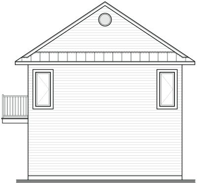 Rear Elevation Plan: 5-466