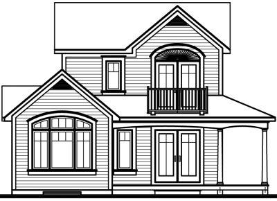 Rear Elevation Plan: 5-468