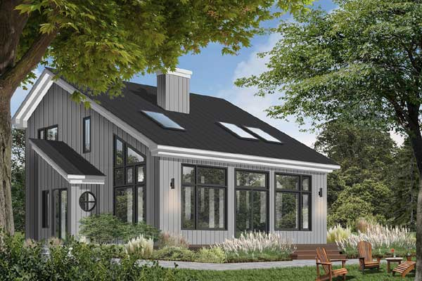 Contemporary Style Home Design Plan: 5-469