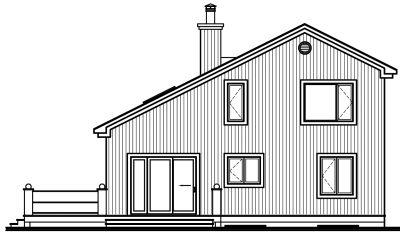 Rear Elevation Plan: 5-469