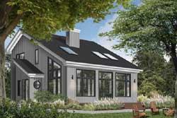 Contemporary Style Home Design Plan: 5-469