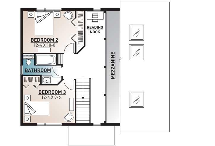 Upper/Second Floor Plan: 5-469