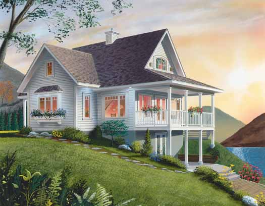 Country Style House Plans Plan: 5-470