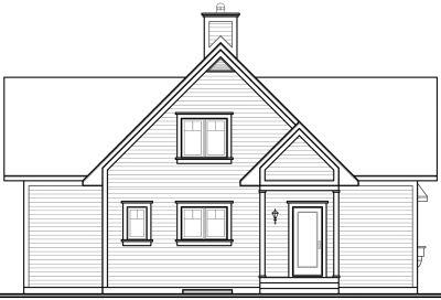 Rear Elevation Plan: 5-470
