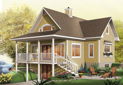 Country Style Floor Plans Plan: 5-471