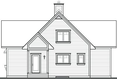 Rear Elevation Plan: 5-471