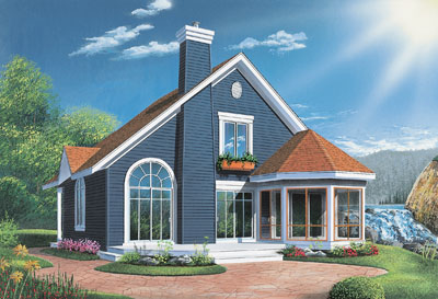 Traditional Style Home Design Plan: 5-473
