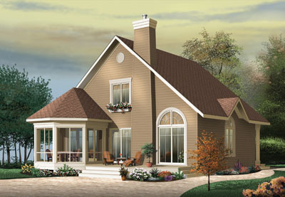 Country Style Home Design Plan: 5-474