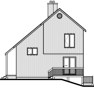 Rear Elevation Plan: 5-475
