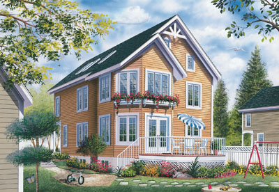 Victorian Style House Plans Plan: 5-476