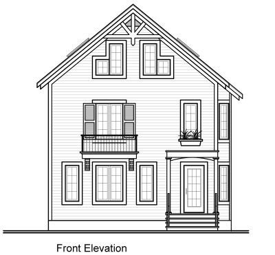 Rear Elevation Plan: 5-476