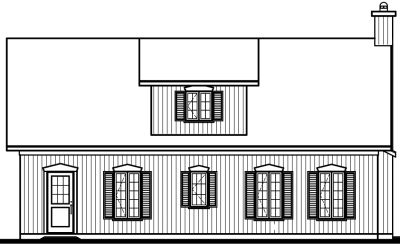 Rear Elevation Plan: 5-477