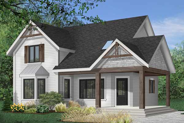 Country Style Home Design Plan: 5-478