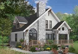 Cottage Style Home Design Plan: 5-480