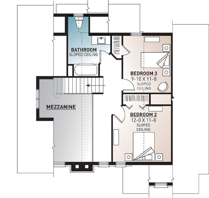 Upper/Second Floor Plan: 5-480