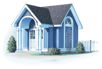 European Style Home Design Plan: 5-482