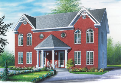 Victorian Style Home Design Plan: 5-512