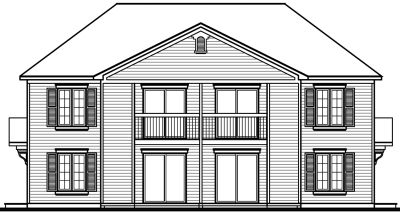 Rear Elevation Plan: 5-514
