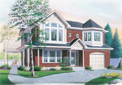 Traditional Style Home Design Plan: 5-515