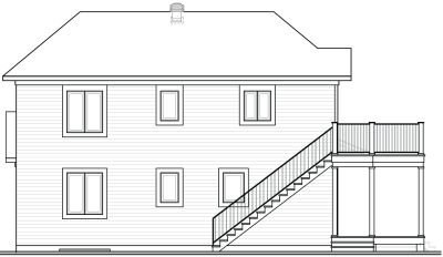 Rear Elevation Plan: 5-515